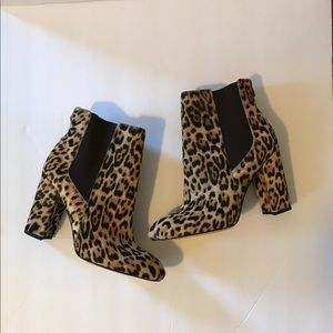 Sam Edelman. Case leopard calf hair booties. 6